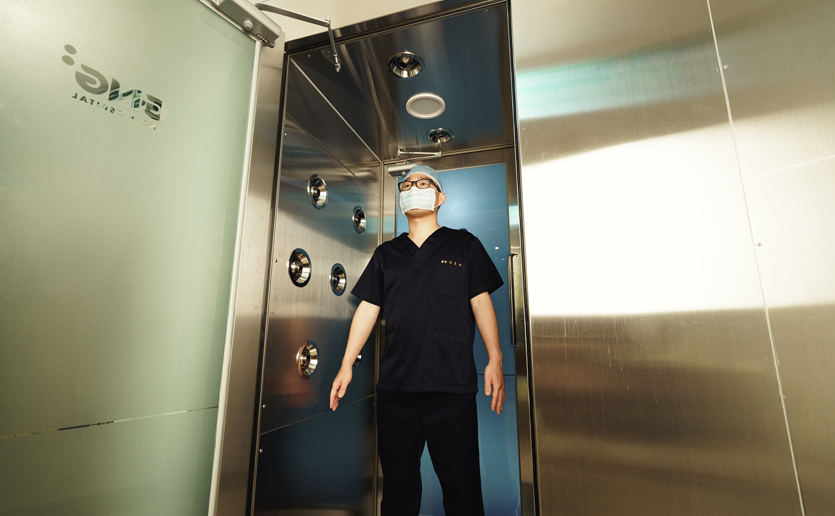 Our surgery rooms are germ-free zones area where infection control is conducted thoroughly by sterilizing all surgical instruments and operation rooms. There is also a clean air shower system which helps prevent dust, pollutants, and bugs from entering the surgery room. As a result, the patient can be assured that the surgery site is safe.